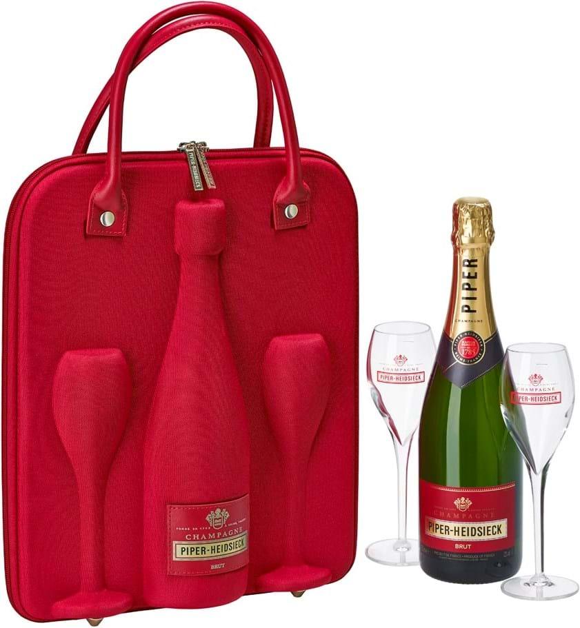 Piper-Heidsieck, Cuvée Brut, Champagne, AOC, brut, white (travel gift set incl. 2 glasses) 0.75L