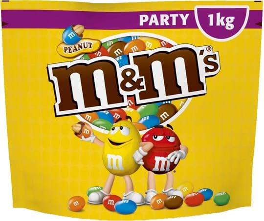 M&M's Peanut Party Pack, 1000g