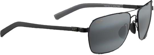 Maui Jim Freight Trains Unisex Sunglasses with a frame made of maui flex in gloss black and plastic lenses in grey polarized