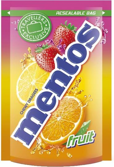 Mentos Pouch Bag Fruit 175g