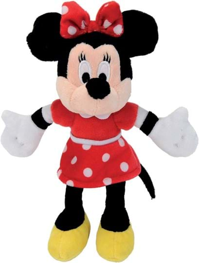 Disney The 20 cm Minnie Red Dress looks in her red dot dress just great. It is suitable from cuddly soft plush and for children in their first months of life.