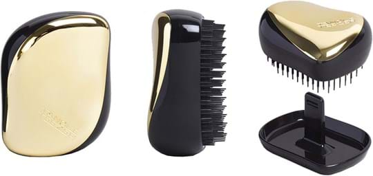 Tangle Teezer Compact Styler Hair Brush in Black/Gold