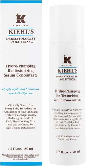 Kiehl's Dermatologist Solutions Hydro-Plumping Re-Texturizing Serum Concentrate