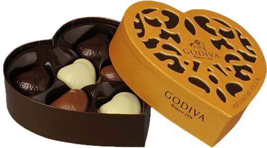 Godiva Coeur Iconique 3x 6 pcs 195g