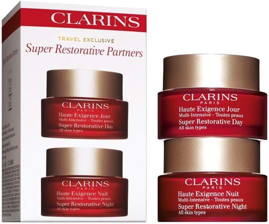Clarins Skincare Set Super Restorative Partners Set, Set cont.: Day Cream AST 50 ml (GH 1067013) + NiGH t Cream AST 50 ml (GH 1093357) (replaces GH 1070597)