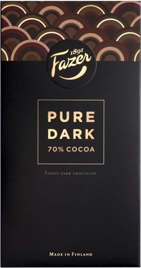 Fazer pure dark chokolade med 70% kakao 95g