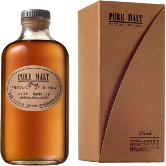 Nikka Pure Malt Black 43% 0,5L, gaveæske