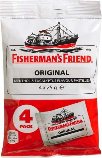 Fisherman's Friend Original Menthol & Eucalyptus 4 x 25g