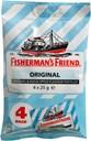 Fisherman's Friend Original Menthol & Eucalyptus, ikke tilsat sukker, 4 x 25g