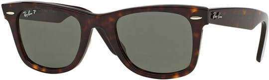 Ray Ban Icons Unisex Sunglasses with a frame made of acetate in brown and crystal lenses in green polarized