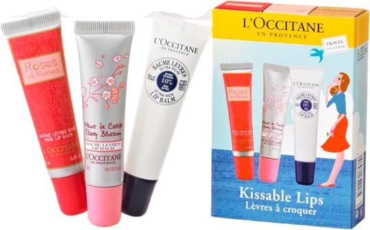 L'Occitane en Provence Kissable Lips-sæt