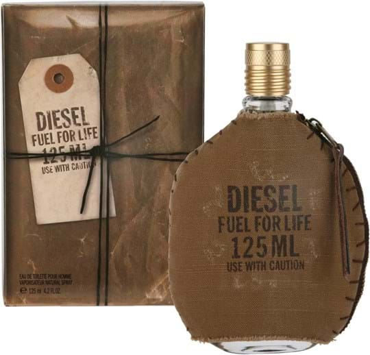 Diesel Fuel for Life He Eau de Toilette Spray with Pouch