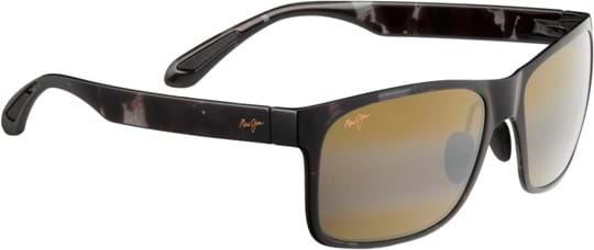 Maui Jim Red Sands Unisex Sunglasses with a frame made of plastic in grey and plastic lenses in brown