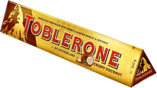 Toblerone Tablet Large Toblerone Crispy Coconut 360g