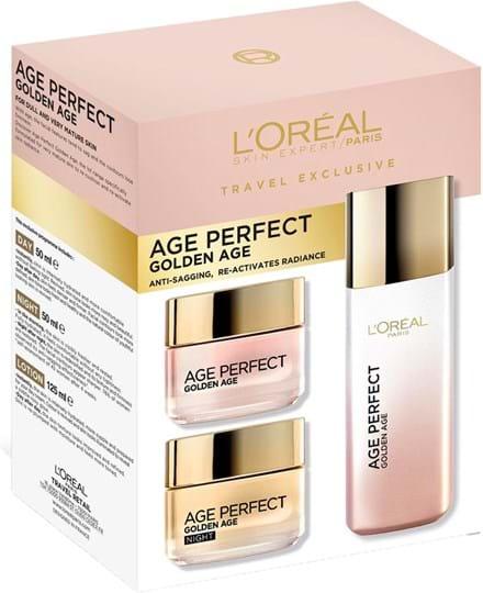 L'Oréal Paris Age Perfect Golden Age Programme Set cont.: 1x Day 50 ml (GH 1171665) + 1x Night 50 ml (GH 1171666) + 1x Lotion 125 ml (GH 1171667)