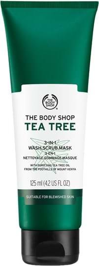 The Body Shop Tea Tree 3‑i‑1 vaskeskrubbemaske 125ml