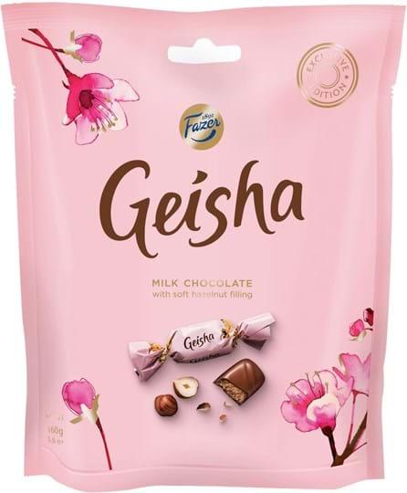 Geisha-chokolader 160g