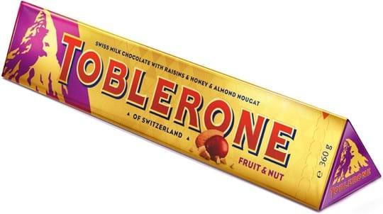 Toblerone Tablet Large Toblerone Fruit & Nut