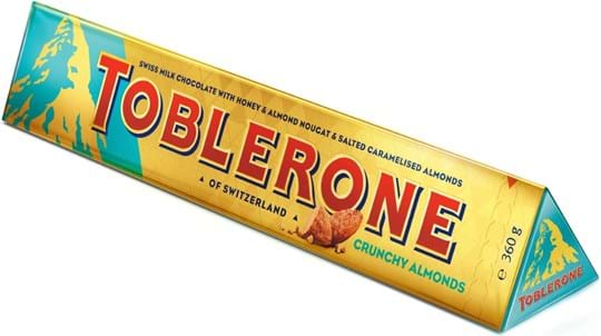 Toblerone Tablet Large Toblerone Crunchy Almonds