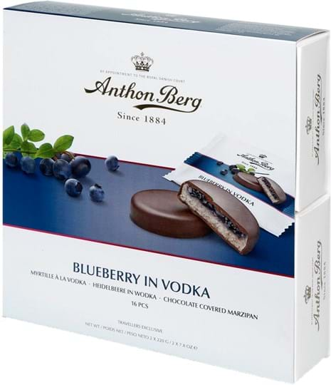 Anthon Berg Blueberry in Vodka, 16 pcs