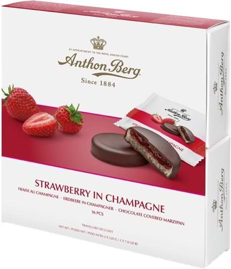Anthon Berg – jordbær i champagne 440g