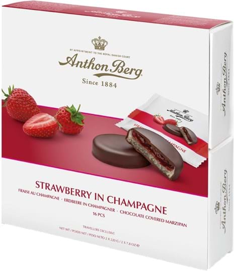 Anthon Berg strawberry in champagne 440g