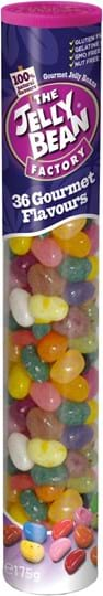 The Jelly Bean Factory – 36 gourmetvarianter, rør med 175g
