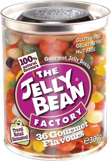 The Jelly Bean Factory – 36 gourmetvarianter, dåse med 300g