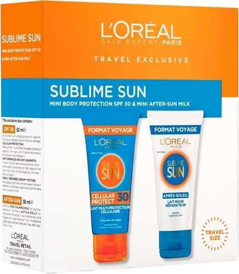 L'Oréal Paris L'Oreal Suncare Sublime Sun med cellebeskyttelse SPF30 duo