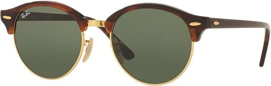 Ray Ban Icons Unisex Sunglasses with a frame made of acetate in brown and crystal lenses in green