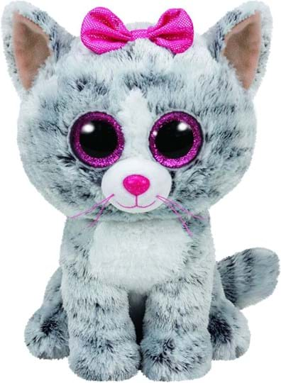 Ty Beanie Boos Kiki - cat grey, 24cm