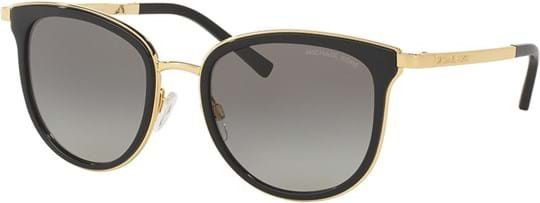 Michael Kors Women's Sunglasses with a frame made of metal in black and plastic lenses in grey gradient