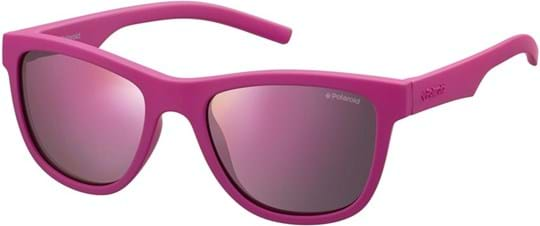Polaroid Kids Kids' Sunglasses with a frame made of plastic in pink and plastic lenses in polarisiert, grau