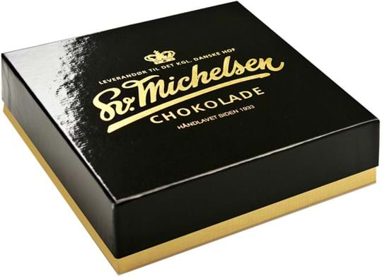 Michelsen DK Black gift box filled with 9 chocolates