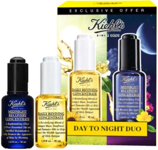 Kiehl's Skincare Set Set cont.: 1x Midnight Recovery Concentrate 30 ml (GH 462268) + 1 x Daily Reviving Concentrate 30 ml (GH 1151267)