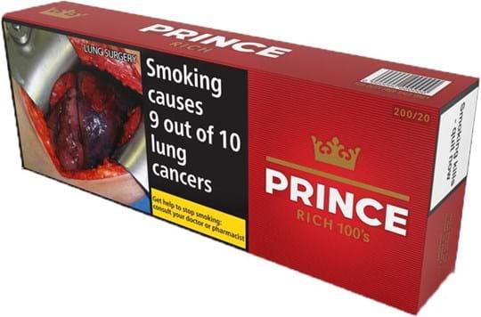 Prince Red Original 100s, 200 stk