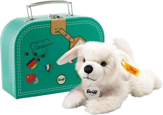 Steiff, dog leyla 20 white travel retail