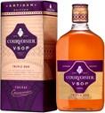 Courvoisier Artisan VSOP Triple Oak 40% 0,5L, gaveæske