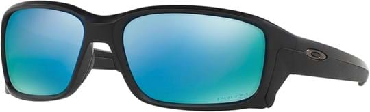 Oakley Active Performance Men's Sunglasses with a frame made of injected in black and plastic lenses in polarized, blue