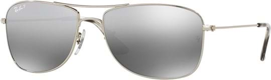 Ray Ban Tech Unisex Sunglasses with a frame made of metal in silver, lenses in ploarized, mirror, silver