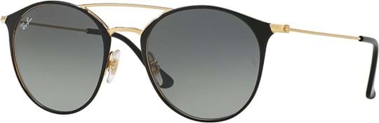 Ray Ban highstreet Unisex Sunglasses with a frame made of steel in black in gradient, grey