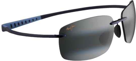 Maui Jim Kumu Unisex Sunglasses with a frame made of beta-titanium in blue and crystal lenses in grau