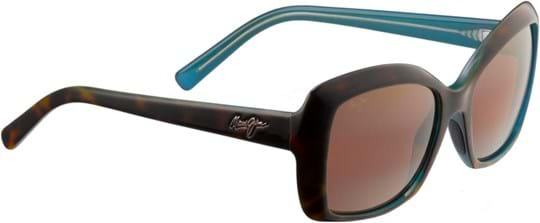 Maui Jim Orchid Women's Sunglasses with a frame made of nylon in brown and crystal lenses in bronze
