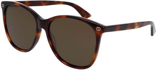 Gucci Sensual Romantic Women's Sunglasses with a frame made of acetate in brown and plastic lenses in brown