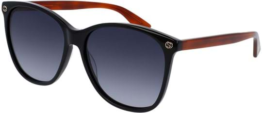 Gucci Sensual Romantic Women's Sunglasses with a frame made of acetate in black and plastic lenses in grey