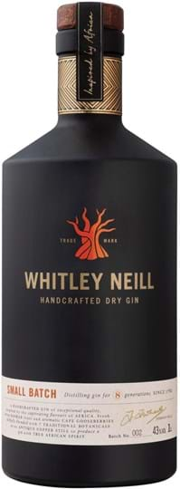Whitley Neill Handcrafted Dry Gin 43 % 1L