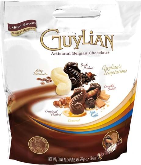 Guylian Temptations, pose med mix, standard 522g