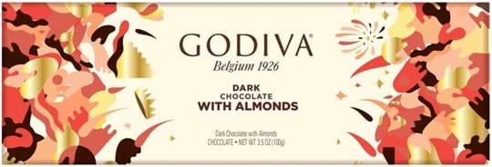 Godiva, mørk chokolade med mandler, 300g