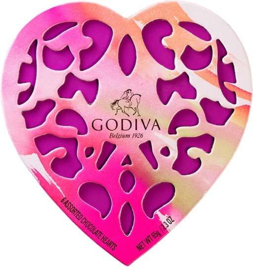 Godiva Coeur Iconique Limited Edition 2017 - 6 blandede chokolader 65g