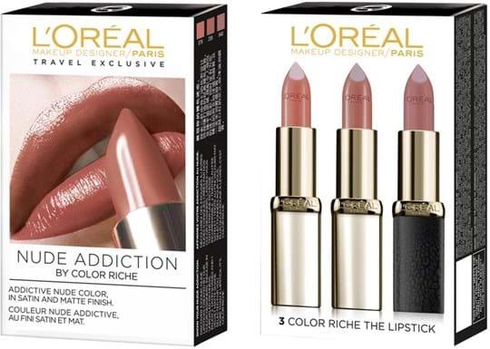 L'Oréal Paris Color Riche Nude Addiction læbestiftsæt